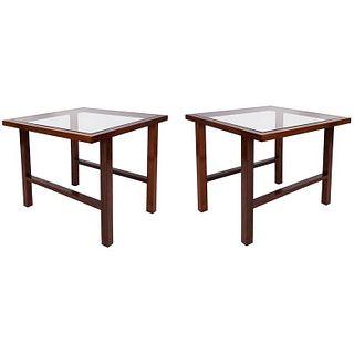 Branco & Preto Brazilian Modern Side Tables, Pair