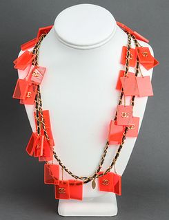 Chanel Runway Plexiglass Charm Necklace, c. 1987