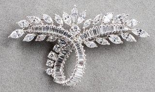 Vintage Platinum Diamond Spray Brooch /Pin