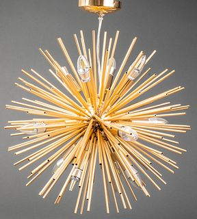 Gold-Tone Starburst or Sputnik Chandelier