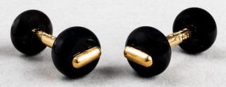 Marine B. 18K Yellow Gold Black Onyx Cufflinks
