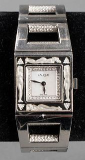 Lalique Ladies Stainless Steel Diamond Wrist Watch