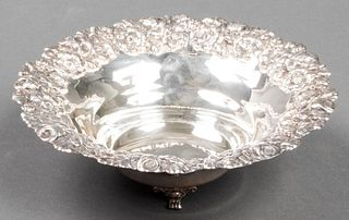 Hazorfim Judaica Silver Bowl with Floral Repousse