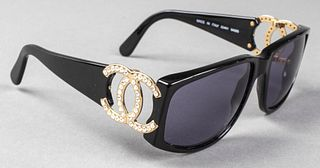 "Chanel Designer ""CC"" Logo Sunglasses"