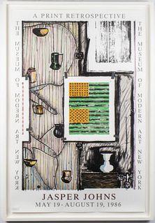 Jasper Johns MOMA Prints Retrospective Poster 1986