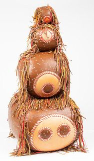 Contemporary Art Graduated Leather Balls, Set of 4