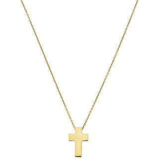 CHOKER IN 18K YELLOW GOLD AND CROSS WITH RUBY IN 18K YELLOW GOLD,ROBERTO COIN BRAND  Weight: 2.7 g