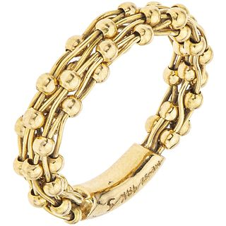 RING IN 18K YELLOW GOLD, TANE Weight: 4.1 g. Size: 5 ¼