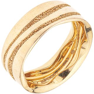 RING IN 18K ROSE GOLD, MONTBLANC Weight: 5.9 g. Size: 6 ¼