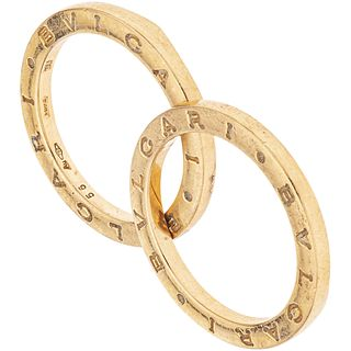 RING IN 18K ROSE GOLD, BVLGARI, B.ZERO1 COLLECTION Missing middle band. Weight: 4.9 g. Size: 7 ¾