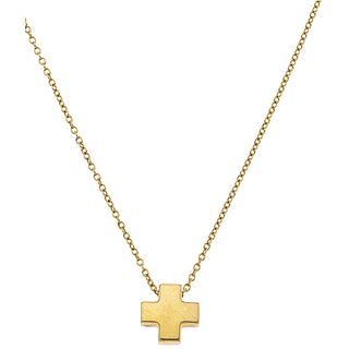 CHOKER AND CROSS IN 18K YELLOW GOLD, TIFFANY & CO. Weight: 3.3 g