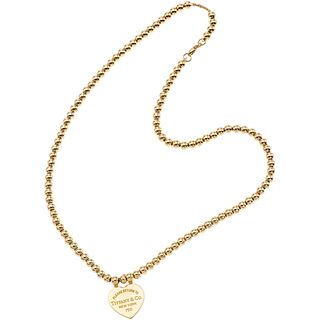 """CHOKER IN 18K YELLOW GOLD, TIFFANY & CO., RETURN TO TIFFANY COLLECTION Weight: 21.2 g. Length: 16.1"""" (41 cm)"""