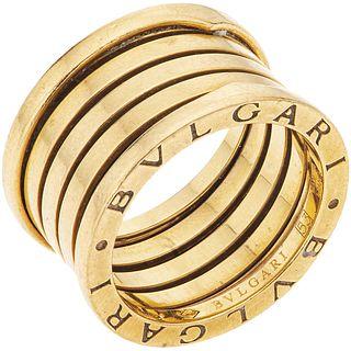 RING IN 18K YELLOW GOLD, BVLGARI, B.ZERO1 COLLECTION Weight: 11.5 g. Size: 6 ½