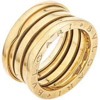 RING IN 18K YELLOW GOLD, BVLGARI, B.ZERO1 COLLECTION Weight: 11.1 g. Size: 6 ½