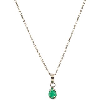 CHOKER AND PENDANT WITH EMERALD, 14K AND 10K YELLOW GOLD 1 Emerald pear cut ~0.37 ct. Weight: 1.4 g