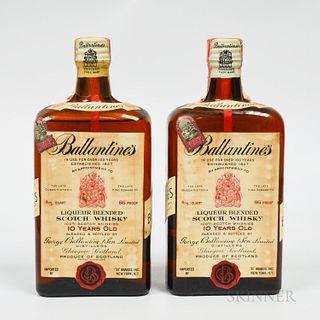 Ballantine's 10 Years Old, 2 4/5 quart bottles