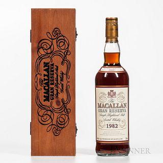 Macallan Gran Reserva 1982, 1 750ml bottle (owc)