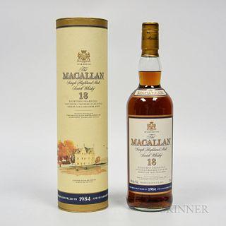 Macallan 18 Years Old 1984, 1 750ml bottle (ot)