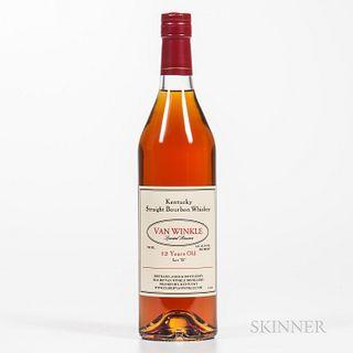 """Van Winkle Special Reserve 12 Years Old Lot """"B"""":, 1 750ml bottle"""