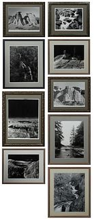 """Dave Sloan, """"Four Falls,"""" """"Back of Eagle Rock,"""" """"Eagle Rock,"""" """"Whitewater Falls,"""" """"Rushing River,"""" """"Mountain Scene,"""" """"Whitewater,"""" """"Gateway,"""" and """"Vie"""