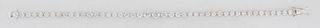 18K White Gold Diamond Link Bracelet, each of the forty-five links with a graduated round diamond, total diamond wt.- 4.39 cts., L.- 7 in., with appra