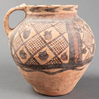 Chinese Neolithic Period Pottery Handled Jar