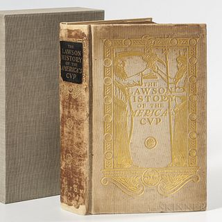 Winfield M. Thompson and Thomas W. Lawson, The Lawson History of the America's Cup, 1902,published Boston, Massachusetts, gilt-stamped cloth cover wit