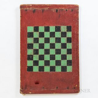 Green- and Black-painted Double-sided Game Board
