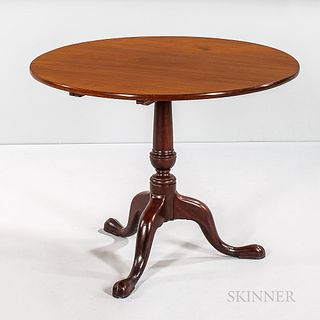Circular Mahogany Tilt-top Tea Table,Boston, 18th century