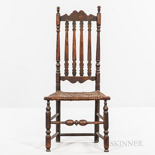 Bannister-back Side Chair,New England, 18th century
