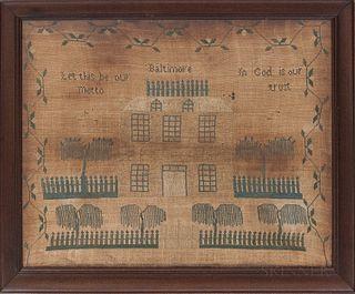Framed Baltimore Sampler