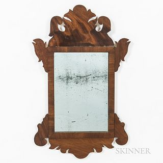 Mahogany Scroll-frame Mirror