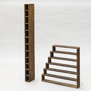 Two Compartmented Shelves