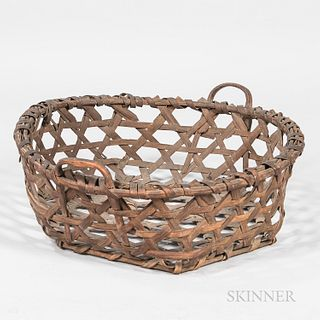 Splint Cheese Basket,America, 19th century