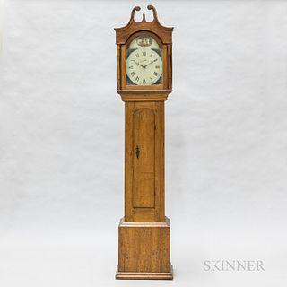 Country Walnut Tall Case Clock