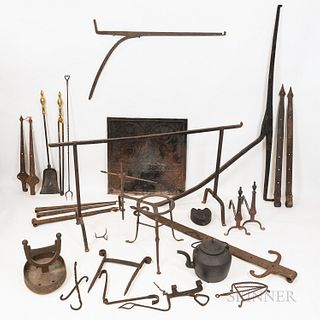 Group of Hearth and Other Cooking-related Items