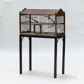 Antique Birdcage on Stand