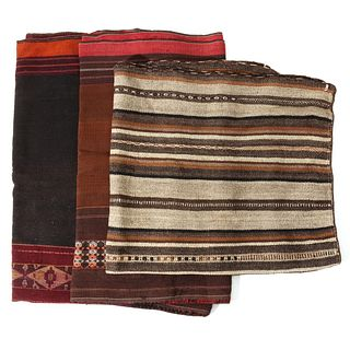 A GROUP OF FINE 19TH CENTURY SOUTH AMERICAN WEAVINGS