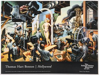 EXHIBITION POSTER FOR THOMAS HART BENTON AND HOLLYWOOD