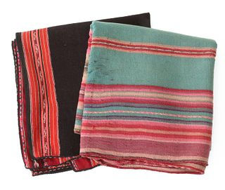 SOUTH AMERICAN WOVEN BLANKET AND WOMAN'S MANTLE