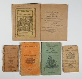 (6) EARLY 19TH C. AMERICAN CHILDREN'S CHAPBOOKS