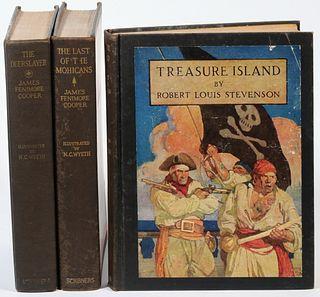 (3) BOOKS ILLUSTRATED BY N.C. WYETH
