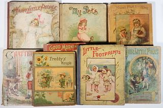 (8) EARLY MEDIUM FORMAT CHILDREN'S PICTURE BOOKS