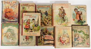 (11) LARGE FORMAT EARLY CHROMOLITHO CHILDREN'S BOOKS