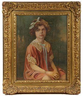 1920S VINTAGE PORTRAIT PAINTING SIGNED 'UNDERWOOD L. UNDERWOOD'