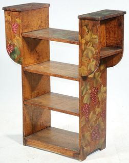 PYROGRAPHY BOOKCASE