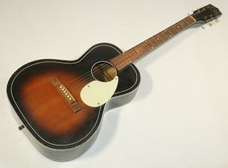 KAY ACOUSTIC GUITAR MODEL 000 IN HARD CASE