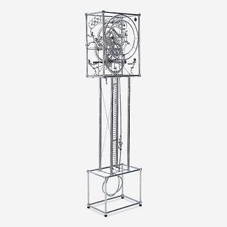 "Gordon Bradt (American, b. 1924), ""The Seven Man"" Kinetic Grandfather Clock, Kinetico Studios, Eureka Springs, AR, late 20th century"