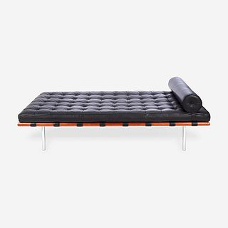 """After Ludwig Mies van der Rohe (American, b. Germany, 1886-1969), """"Barcelona"""" Style Daybed, circa 1970s"""