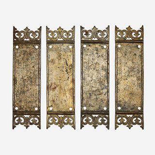 Samuel Yellin (American, b. Ukraine, 1884-1940), Set of Four Door Push Plates, Philadelphia, PA, circa 1925